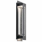 "Kichler River Path LED 23"" Outdoor Wall Sconce Lighting - Black 49946BKTLED"
