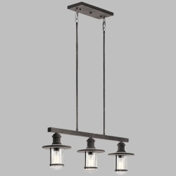 Kichler Riverwood Exterior Chandelier 49197WZC