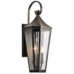 "Kichler Rochdale 24.75"" Outdoor Wall Light - Bronze 49513OZ"