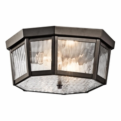 Kichler Rochdale Outdoor Flush Mount Light - Bronze 49518OZ