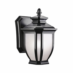 "Kichler Salisbury 10.25"" Exterior Wall Light - Black 9039BK"