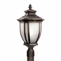 "Kichler Salisbury 21.75"" Outdoor Post Lantern - Bronze 9938RZ"