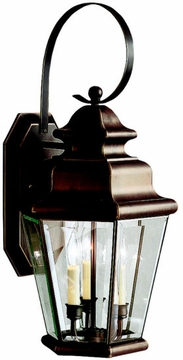 "Kichler Savannah Estates 24.75"" Outdoor Wall Lighting Fixture - Bronze 9677OZ"