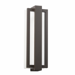 "Kichler Sedo 18.25"" LED Outdoor Lighting Sconce - Bronze 49434AZ"
