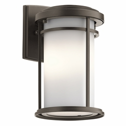 "Kichler Toman 10.25"" LED Outdoor Wall Sconce Lighting 49686OZL16"