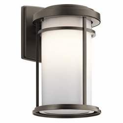 "Kichler Toman 13.5"" LED Outdoor Wall Lamp 49687OZL16"