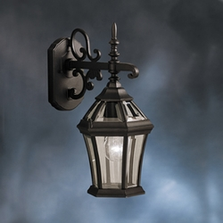 Kichler Townhouse 19th Century Exterior Wall Sconce 9789BK