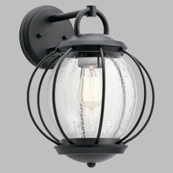 "Kichler Vandalia 14.5"" Outdoor Lighting Sconce 49728BKT"