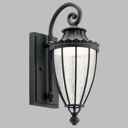 "Kichler Wakefield LED 17.75"" Exterior Wall Sconce 49751BKTLED"