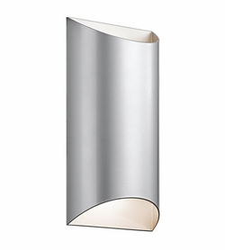 "Kichler Wesley 14"" LED Outdoor Wall Lamp - Platinum 49279PLLED"
