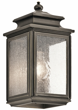 "Kichler Wiscombe Park 12.25"" Outdoor Wall Lamp 49501OZ"