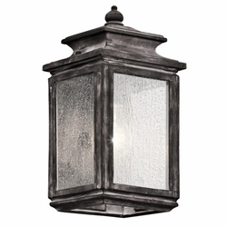 "Kichler Wiscombe Park 12.25"" Outdoor Wall Light - 49501WZC"