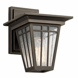"Kichler Woodhollow Lane 9.5"" Outdoor Wall Light - Bronze 49674OZ"