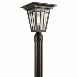 Kichler Woodhollow Lane Exterior Post Lamp - Bronze 49677OZ