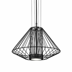 "Kuzco Arctic LED 15"" Outdoor Pendant Lamp - Black EP68320-BK"