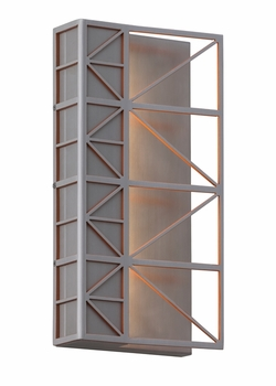 LBL East River LED Exterior Wall Sconce - Brushed Aluminum and Orange OD771AOLEDW