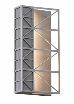 LBL East River LED Exterior Wall Sconce - Brushed Aluminum OD771ALLEDW