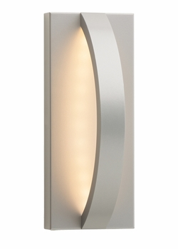 "LBL Hunter 10 LED 10.5"" Outdoor Wall Sconce - Silver OD818SILEDW"