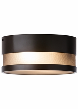 LBL Moon Dance LED Outdoor Flush Mount - Bronze ODF827SMBZLEDW