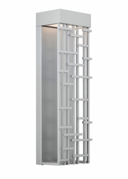 """LBL Pier 60 Large 26.4"""" LED Outdoor Lighting Sconce - Silver OD825SILEDW"""