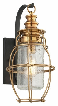 "Little Harbor 15.5"" Outdoor Light Sconce By Troy - Brass B3572"