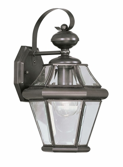 "Livex Georgetown 15"" Outdoor Wall Lighting Fixture - Bronze 2161-07"