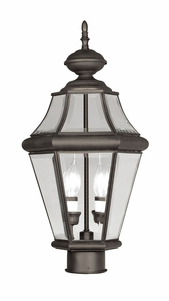 Livex georgetown 21 outdoor post lighting fixture bronze 2264 07 aloadofball