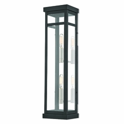 "Livex Hopewell 22"" Outdoor Wall Lighting Fixture - Black 20706-04"