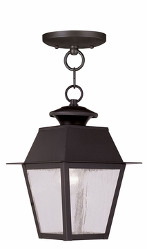 "Livex Mansfield 11.5"" Outdoor Hanging Lighting Fixture - Bronze 2164-07"