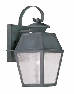 "Livex Mansfield 12.5"" Outdoor Wall Lighting - Charcoal 2162-61"