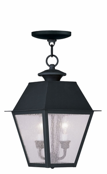 "Livex Mansfield 15"" Outdoor Pendant Lighting - Black 2167-04"