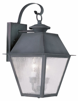 "Livex Mansfield 16.5"" Outdoor Wall Mounted Light - Charcoal 2165-61"