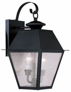 "Livex Mansfield 16.5"" Outdoor Wall Sconce - Black 2165-04"