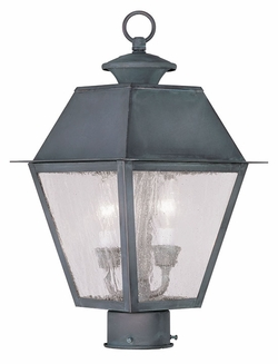 "Livex Mansfield 17"" Exterior Lamp Post - Charcoal 2166-61"