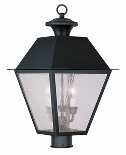 "Livex Mansfield 20.5"" Outdoor Lighting Post Fixture - Black 2169-04"