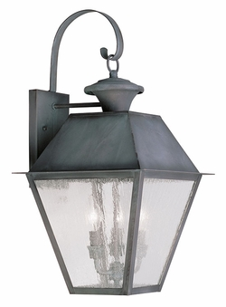 "Livex Mansfield 23.5"" Exterior Light Sconce - Charcoal 2168-61"