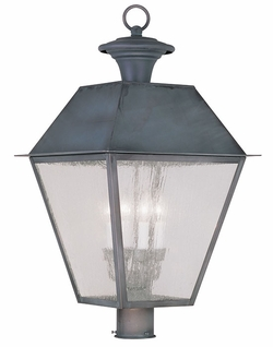 "Livex Mansfield 26"" Outdoor Lamp Post - Charcoal 2173-61"