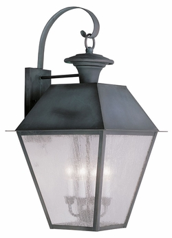 """Livex Mansfield 27.5"""" Exterior Sconce - Charcoal 2172-61"""