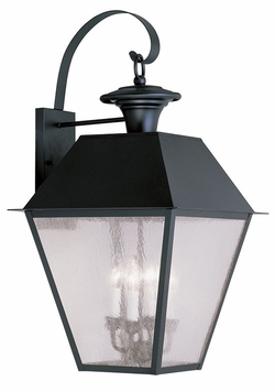 "Livex Mansfield 27.5"" Outdoor Wall Sconce Lighting - Black 2172-04"