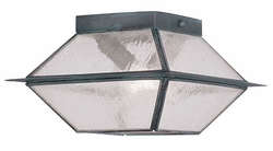 "Livex Mansfield 6"" Outdoor Ceiling Fixture - Charcoal 2175-61"