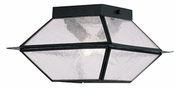 "Livex Mansfield 6"" Outdoor Ceiling Light Fixture - Black 2175-04"