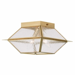 "Livex Mansfield 6"" Outdoor Ceiling Light Fixture - Polished Brass 2175-02"