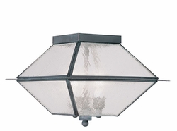 """Livex Mansfield 8"""" Outdoor Ceiling Lighting - Charcoal 2176-61"""