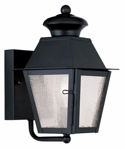 "Livex Mansfield 9.25"" Outdoor Wall Light - Black 2160-04"
