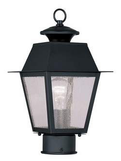 "Livex Mansifield 13.5"" Exterior Light Post - Black 2163-04"