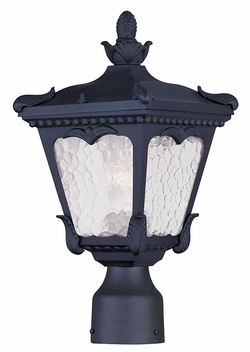 "Livex Millstone 14.75"" Outdoor Lamp Post - Black 7991-04"