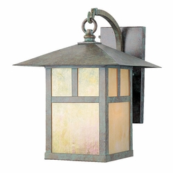 "Livex Montclair Mission 13.75"" Outdoor Wall Lantern - Verde Patina 2133-16"