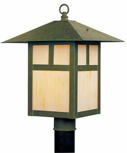 "Livex Montclair Mission 15"" Outdoor Lighting Post Fixture - Verde Patina 2134-16"