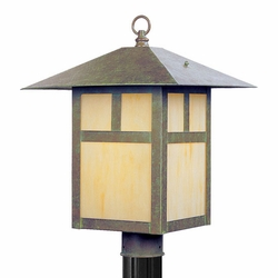 "Livex Montclair Mission 18"" Outdoor Lighting Post - Verde Patina 2140-16"