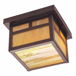 "Livex Montclair Mission 6.5"" Outdoor Flush Mount Ceiling Light - Bronze 2139-07"